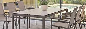 Gartenstühle Set aus Aluminium