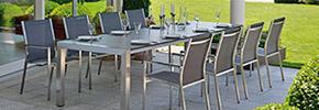 Edelstahl-Textilene Garnituren