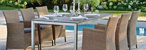 Gartenstühle Set aus Polyrattan