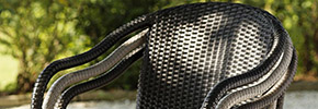 Stapelsessel aus Polyrattan
