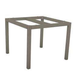Stern Aluminium Tischgestell 80x80 cm, taupe, Vierkantrohr