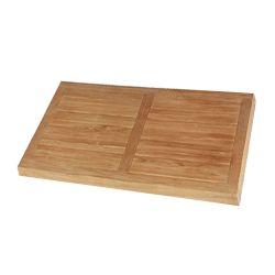 Stern Teak Tischplatte 90x90 cm, FSC-zertifiziert