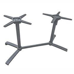 Stern Livorno Tischgestell Aluminium graphit für Tischplatte Silverstar 2.0 130x80 cm Doppelwangen-Tischgestell abklappbar, ineinander stellbar