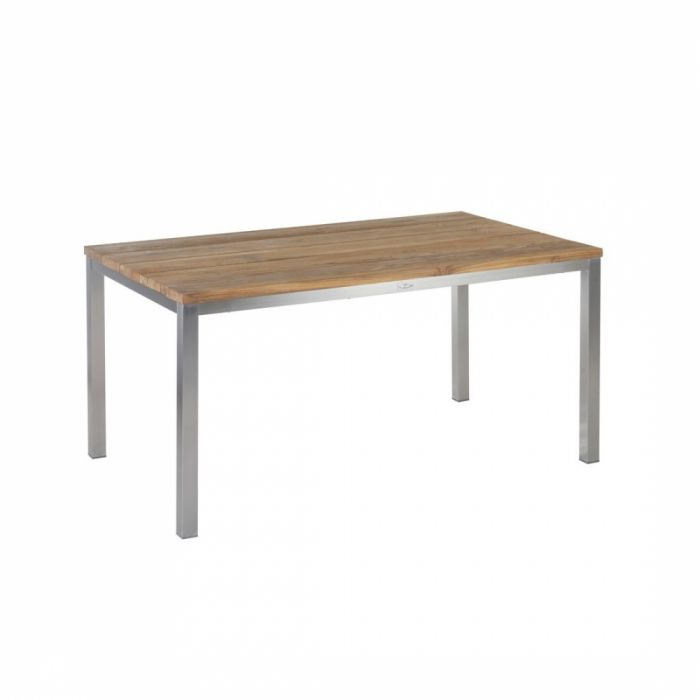 Diamond Garden Barletta Tisch 150 Cm Edelstahl Recycled Teak Breite Lamellen Lola Haengematten De