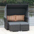 ZEBRA Jack Lounge Junior Set taupe mit Sonnendach und Rückenkissen terra stripes