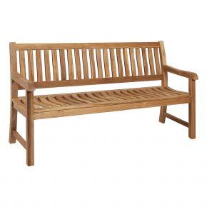 ZEBRA President Bank, 2-Sitzer aus Teakholz, 130 cm, ergonomisch geformt
