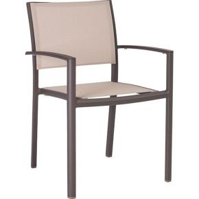 Stern Gartenmöbel Set Lola 6-teilig aus Aluminium mit old Teak Tischplatte
