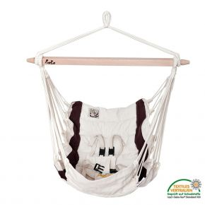 Lola Baby Panorama Babyhängematte mit Polsterung aus Schafwolle ÖKOTEX