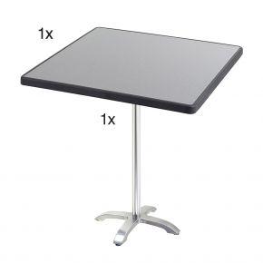 Diamond Garden Cella Stehtischgestell aus Aluminium poliert, 66 x 66 x 109 cm mit DiGalit Tischplatte 70x70cm - Punti