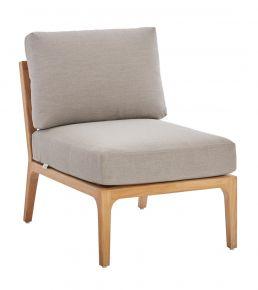 Diamond Garden Lagos Lounge Mittelteil Recycled Teak, Rope braun, inkl. Sitz- und Rückenkissen
