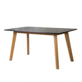 Diamond Garden Memphis Low Dining Tisch 139×80 cm / Teak/HPL - Schiefer