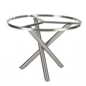Diamond Garden San Marino Tischgestell – 100 cm rund – Edelstahl