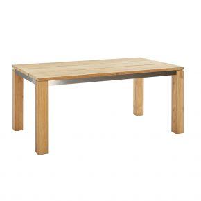 Diamond Garden Tisch Nizza 170x95 cm 3 Planken aus Recycled Teak Natur mit Edelstahlrahmen