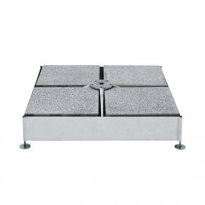 Glatz Sockel M4, 240 kg, (für 16 Platten 40 × 40 × 4 cm), 91 × 91 × 19 – 23 cm, Stahl verzinkt (justier- und nivellierbar)