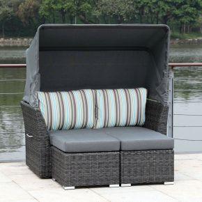 Jack Lounge Junior Set mit Sonnendach aqua stripes