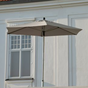 Jan Kurtz Push-Up-Sonnenschirm NOVO, Gestell: Edelstahl/Alu Ø 300 cm, Bespannung: 6-tlg., Polyester taupe