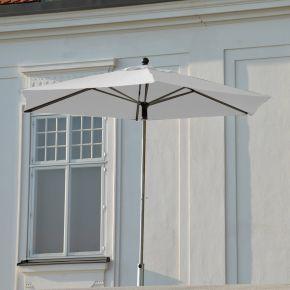 Jan Kurtz Push-Up-Sonnenschirm NOVO, Gestell: Edelstahl/Alu Ø 300 cm, Bespannung: 6-tlg., Polyester weiß
