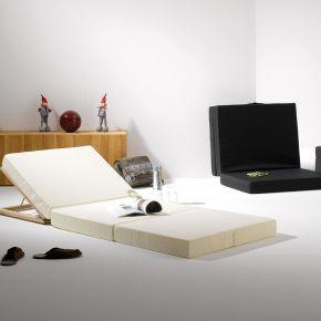 Jan Kurtz Gästematratze SOMNIA, Polyacryl weiß ausgelegt: 10x189x80cm, zusa'geklappt: 30x63x80cm