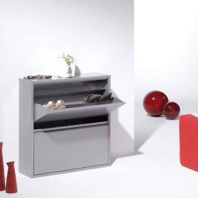 Jan Kurtz Schuhschrank DOUBLE LARGE 2, Metall silberfarben 2 Klappen