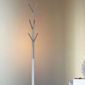 Jan Kurtz Kleiderständer LONDON, Stahlrohr weiß/verchromt 177 cm hoch, Rohr: Ø 32/13 mm, Fuß Ø 30,5 cm