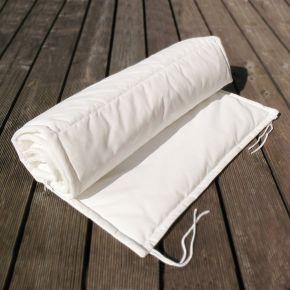 Jan Kurtz Auflage TRIPLE zu Liege Sonoma/Luxury/Quadrato aus 100% Polyacryl in weiß