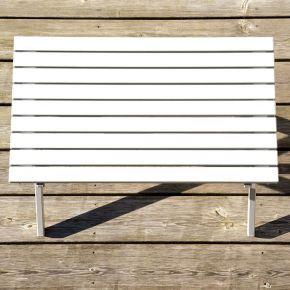 Jan Kurtz Beistelltisch RIMINI TAVOLO, Gestell: Aluminium weiß, 71 x 43 x h 49 cm