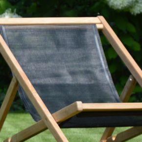 Jan Kurtz Bezug zu Deckchair CANNES / ANTIBES Batyline schwarz