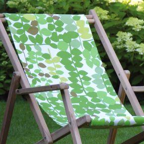 Jan Kurtz Bezug zu Liegestuhl MAXX, Blume Greenwich leaf grün