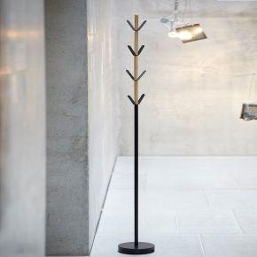 Jan Kurtz Garderobenständer YORK, Buche natur/Stahlrohr schw 176,5 cm hoch, Rohr: Ø 28 mm, Fuß: Ø 28 cm