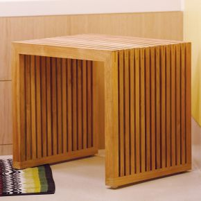 Jan Kurtz Hocker Tivoli, Teak massiv 50 x 40 x 45 cm