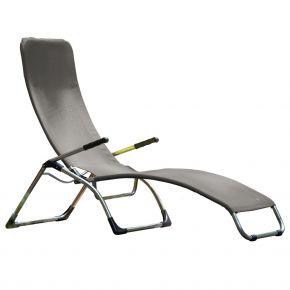 Jan Kurtz Terrassenliege FIAM SAMBA, Gestell: Aluminium, Bezug: Kunststoffgewebe grau 600