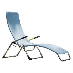 Jan Kurtz Terrassenliege FIAM SAMBA, Gestell: Aluminium, Bezug: Kunststoffgewebe meerblau