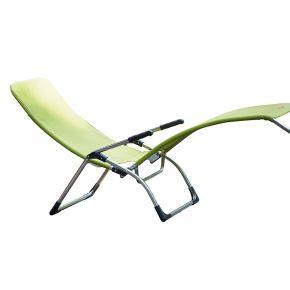 Jan Kurtz Terrassenliege FIAM SAMBA, Gestell: Aluminium, Bezug: Kunststoffgewebe pistazie