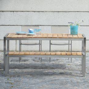Jan Kurtz Luxury Tischsisteme und Lux Stapelsessel Set taupe