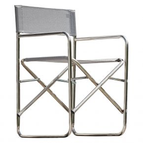 Jan Kurtz REGIESESSEL, Gestell: Aluminium, Bezug: Kunststoffgewebe grau 600