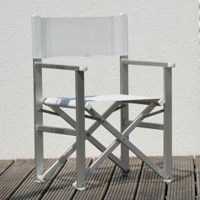 Jan Kurtz Regiesessel RIMINI REGIE, Gestell: Aluminium eloxiert, Bezug: Kunststoffgewebe weiß