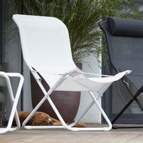 Jan Kurtz Sessel FIAM FIESTA, Gestell: Aluminium weiß, Bezug: Kunststoffgewebe weiß