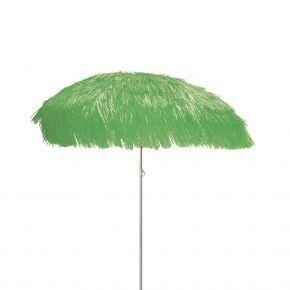 Jan Kurtz Sonnenschirm HAWAII, Gestell: alufarben, grün, mit Fransen, Ø 200 cm ohne Sockel
