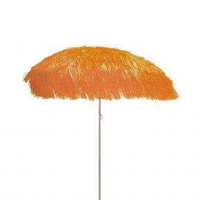 Jan Kurtz Sonnenschirm HAWAII, Gestell: alufarben, orange, mit Fransen, Ø 200 cm ohne Sockel