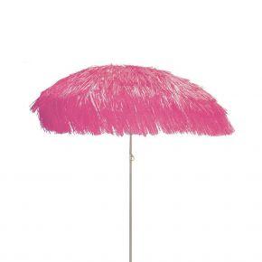 Jan Kurtz Sonnenschirm HAWAII, Gestell: alufarben, pink, mit Fransen, Ø 200 cm ohne Sockel