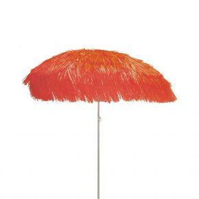 Jan Kurtz Sonnenschirm HAWAII, Gestell: alufarben, rot, mit Fransen, Ø 200 cm ohne Sockel