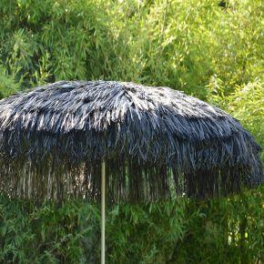 Jan Kurtz Sonnenschirm HAWAII, Gestell: alufarben, schwarz, mit Fransen, Ø 200 cm