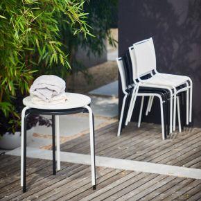 Jan Kurtz Tisch EASY, Gestell: Stahlrohr verzinkt, pulverb. weiß RAL 9010, Ø 58cm, 72 cm hoch, stapelbar