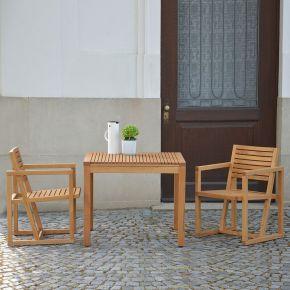 Jan Kurtz Tisch SUMATRA und Armlehnsessel Timber Set