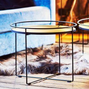 Jan Kurtz Tischplatte CLOCK, esg-glas, starke: 8mm, schwarz, Ø 50