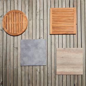 Jan Kurtz Tischplatte WAY, HPL Zementoptik, 12 mm, 70 x 70 cm, mit Muffen