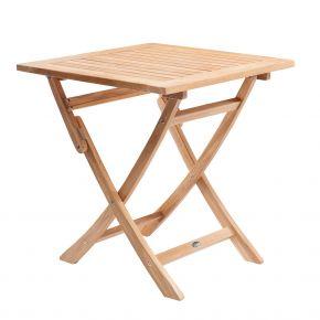 ZEBRA Tisch POKER aus Teakholz 70x70 cm, klappbar
