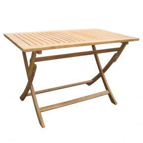 ZEBRA Tisch POKER aus Teakholz 120x70 cm, klappbar