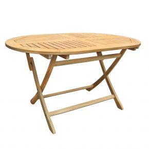 ZEBRA Tisch POKER aus Teakholz 140x90 cm oval, klappbar