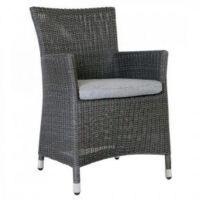 Stern Sortino Sessel Geflecht basaltgrau inkl. Sitzkissen seidengrau 100% Polyacryl mit Reißverschluss